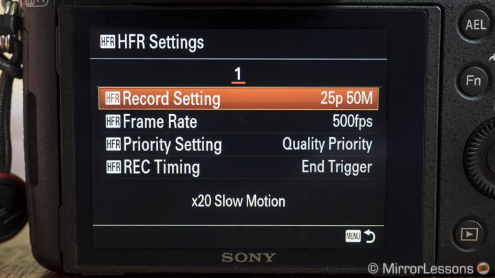 sony rx10 ii slow motion