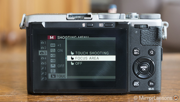 fuji x70 touch screen