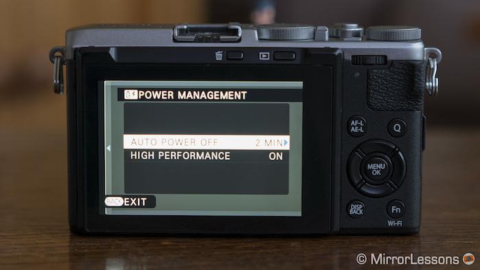 x70 power menu