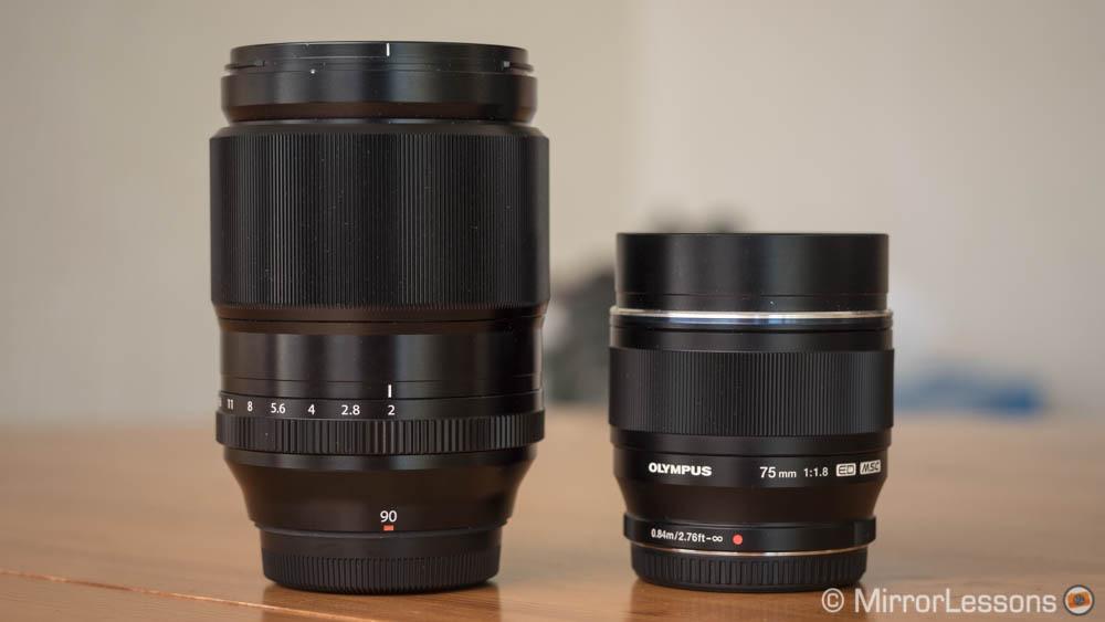 Fuji-90mm-vs-Olympus-75mm-featured