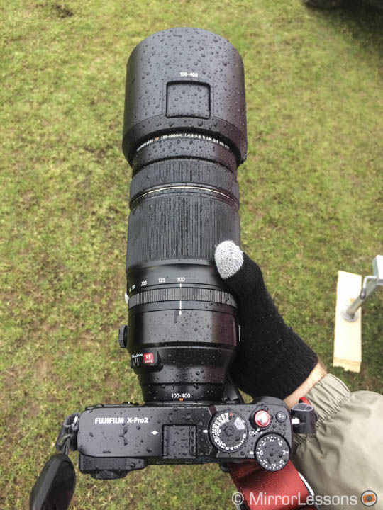 Fuji 100-400mm weather sealing