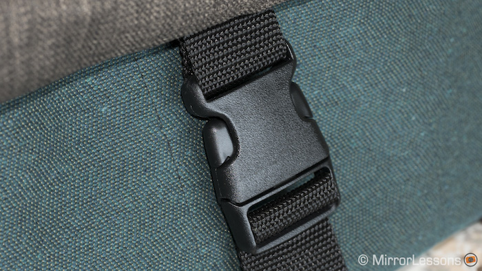 The buckle is secure but it can bounce around when not locked, creating some noise as you walk