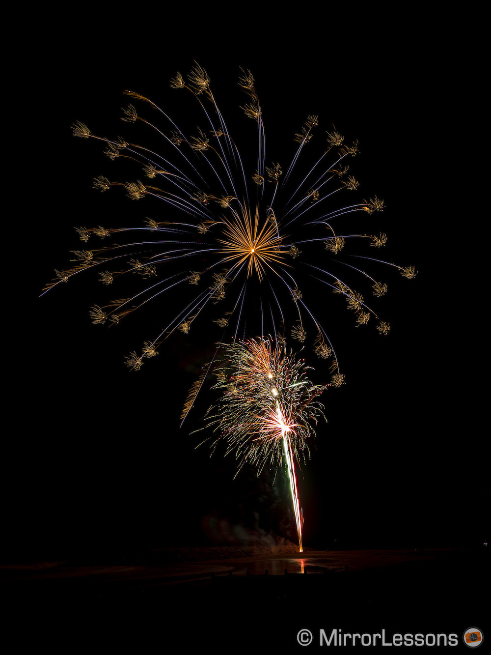 using live composite on the olympus om d e m1 for fireworks
