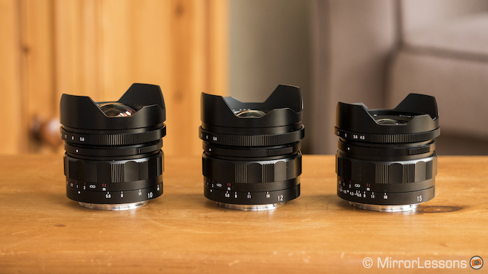 The 15mm is the smallest and lightest of the three Voigtlander E-mount lenses