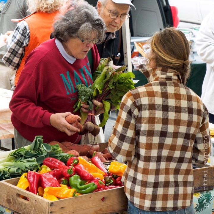 """Farmer's Market, Bath, Maine"" 1/160, F8, ISO 1000, @73mm"